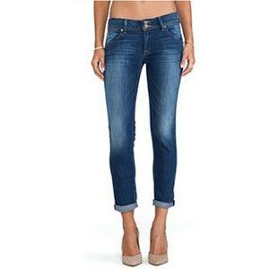 Hudson kylie crop skinny jean cuffed medium wash